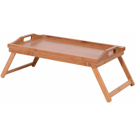 Simple Bamboo Tea Table Wood Color QWGT120
