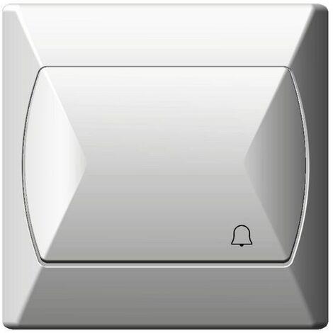 Simple gros bouton base réactif push release door bell blanc