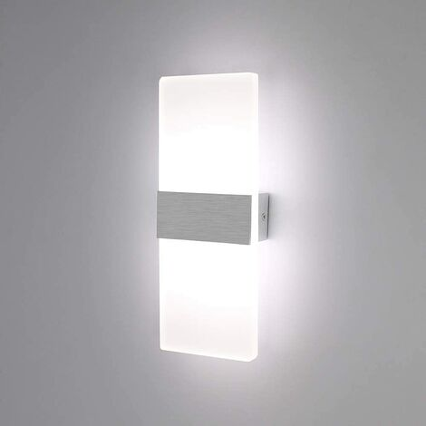 Simple Led Wall Light Indoor 6w Up Down Wall Lamp Modern Acrylic Wall Sconce For Living Room Bedroom Pathway Corridor Stairs Balcony Cool White Zmb053 1