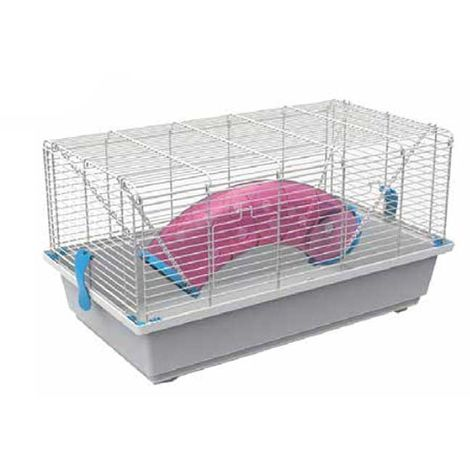Simple rodent cage with hanging tunnel play