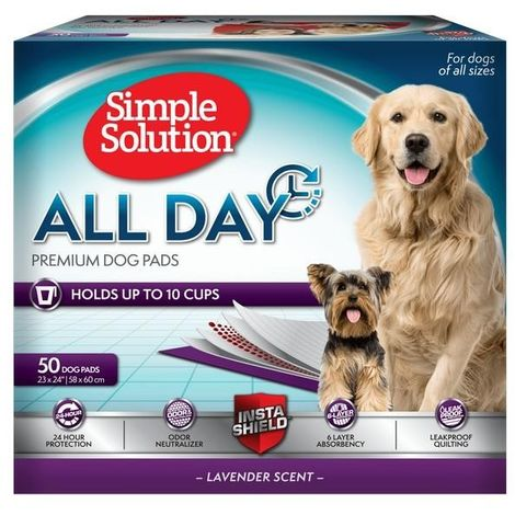Simple Solution All Day Premium Dog Pads (Pack Of 50) (One Size) (Lavender Scent)