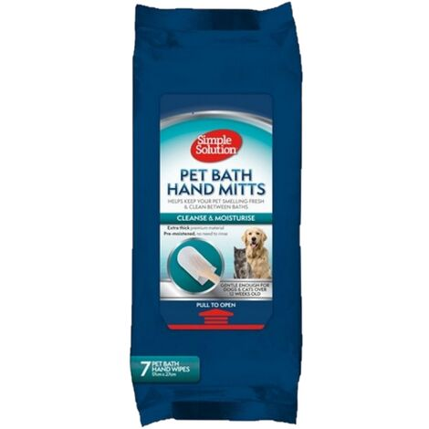 Simple Solution Pet Bath Dog Grooming Mitt (One Size) (White)