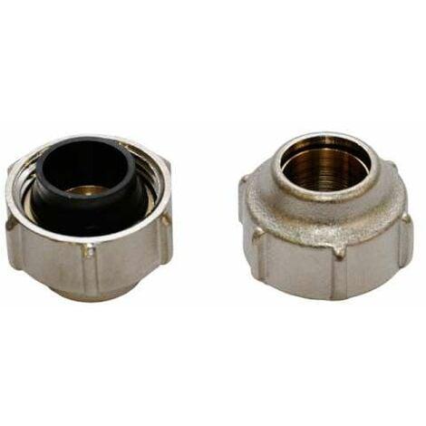 Simplex Klemmverschraubung 1 Paar 15x3/4'' für 15mm Kupferrohr Weichstahlrohr EdelstahlrohrF11170