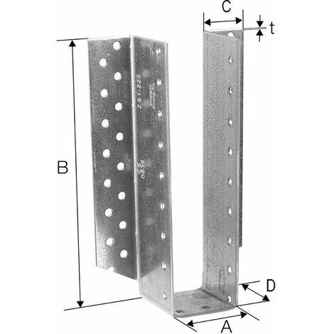 Simpson Balkenschuh außenliegend BSD - Stahl feuerverzinkt