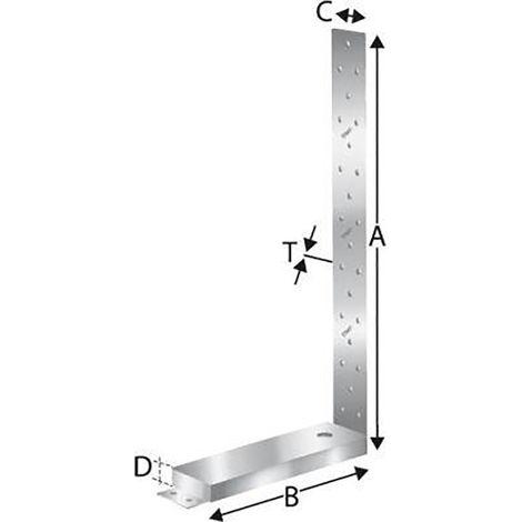 Simpson Strong-Tie Strong Tie SST Zuganker HD280M12G (Inh. 10 Stück)