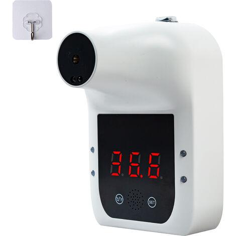 Sin contacto de la frente termometro infrarrojo Para adultos Superficie bebes Ninos de objetos de visualizacion LCD de montaje en pared de autoservicio 0.5S Quick Test con alarma sin bateria
