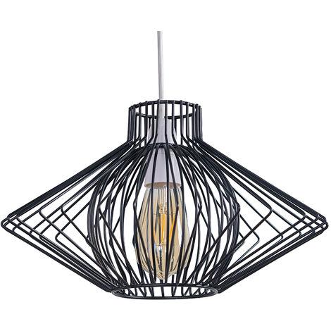 Sinat Wire Frame Ceiling Pendant Light Shade - Black