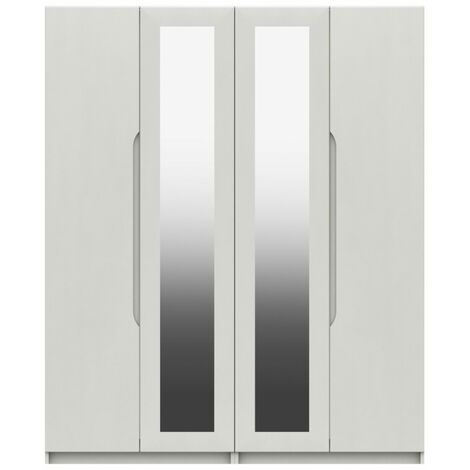 Sinata Four Door Gloss Mirror Wardrobe