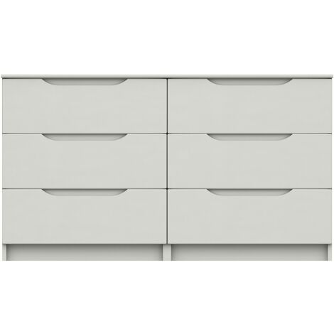 Sinata Gloss 3 Drawer Double Chest