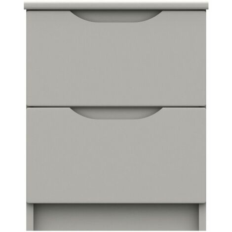 Sinata Gloss Two Drawer Bedside Table
