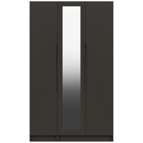 Sinata Tall Three Door Gloss Mirror Wardrobe