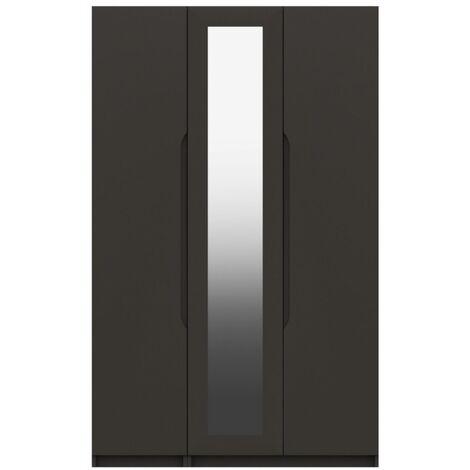 Sinata Three Door Gloss Finish Mirror Wardrobe