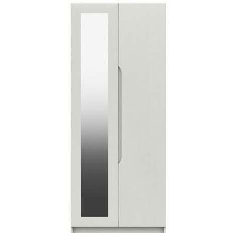 Sinata Two Door Gloss Mirror Wardrobe