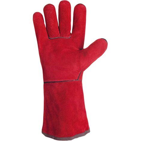 """main image of """"SINGER - Paire de gants tout croûte de bovin - Entièrement doublé coton - 35 cm - Taille 10 - 51SIREP15"""""""