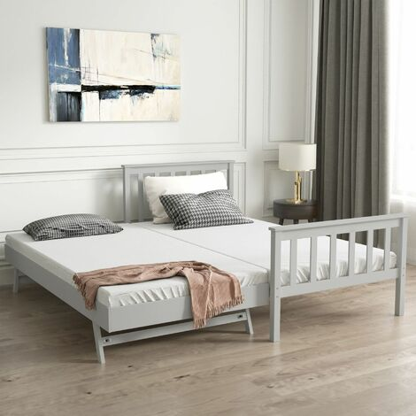 Single 2 in 1 Folding Solid Wood Pine Bed