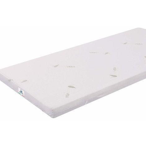 Single 90X200 5 cm Memory Foam Mattress Topper Aloe with Vera Coating TOP5