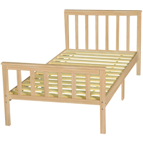 Single Bed Frame Solid Wooden Frame 199x98x82cm