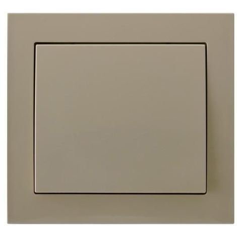 Single Big Button Indoor Light Switch Click Wall Plate Beige