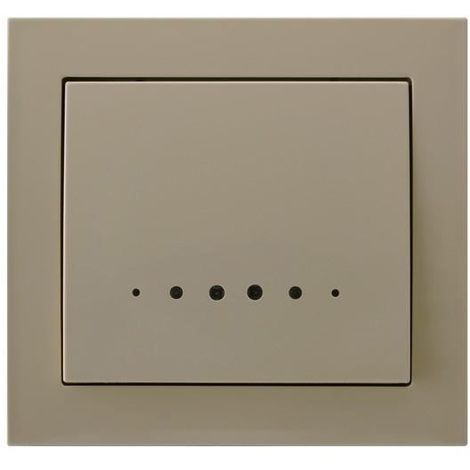 Single Big Button Indoor Light Switch Click Wall Plate Beige with Light