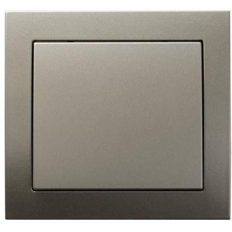 Single Big Button Indoor Light Switch Click Wall Plate Light Satin