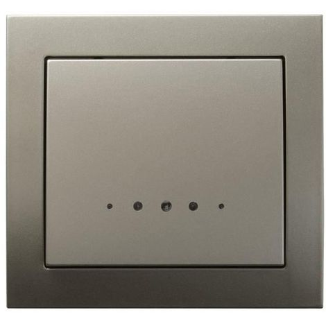 Single Big Button Indoor Light Switch Click Wall Plate Light Satin with Light