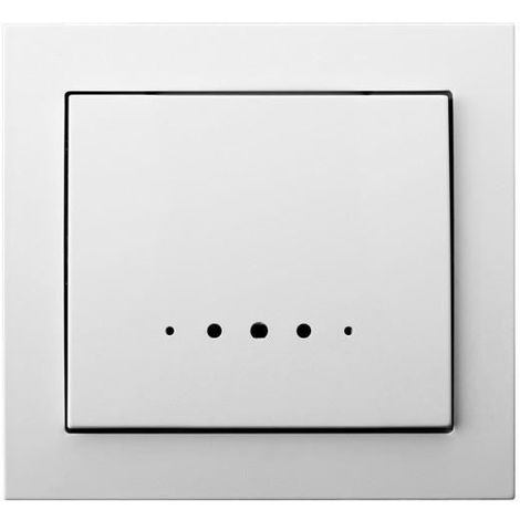 Single Big Button Indoor Light Switch Click Wall Plate White with Light