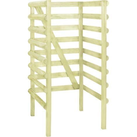 Single Bin Shed Green 70x80x150 cm Impregnated Pinewood