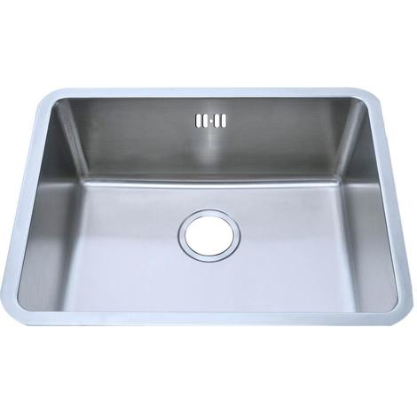 Single Bowl Matt Brushed Stainless Steel Under Mount Kitchen Sinks (A02 bs)