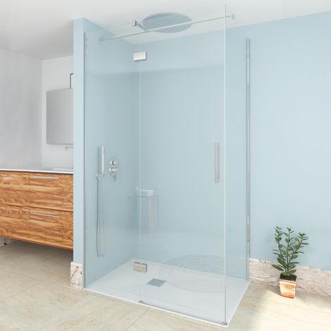 Single Box Mampara de ducha frontal fijo + puerta batiente