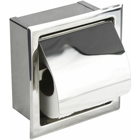 SINGLE CONCEALED TOILET ROLL HOLDER