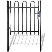 Single Door Fence Gate with Hoop Top 100 x 100 cm