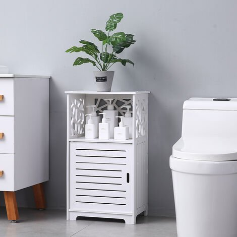 Single Door With Compartment 70cm high Bedside Table