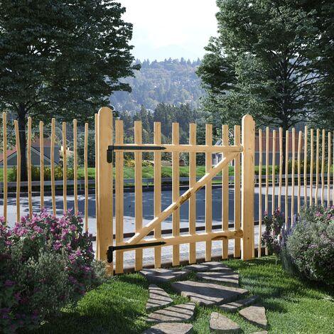 Single Fence Gate Hazel Wood 100x100 cm