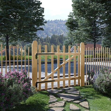Single Fence Gate Hazel Wood 100x90 cm - Beige