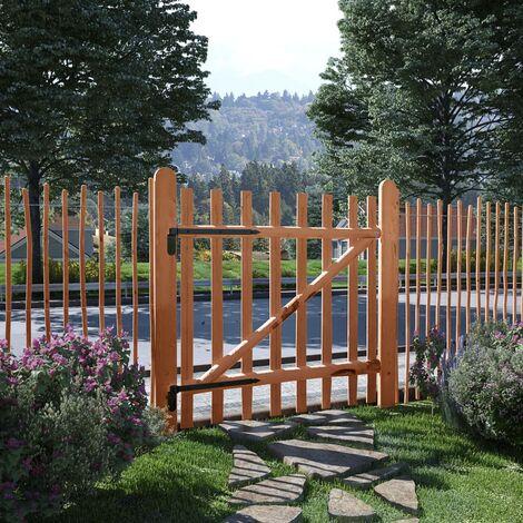 Single Fence Gate Impregnated Hazel Wood 100x100 cm - Brown
