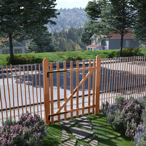 Single Fence Gate Impregnated Hazel Wood 100x120 cm - Brown