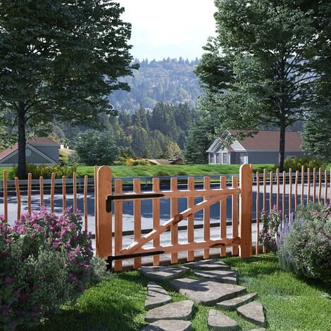 Single Fence Gate Impregnated Hazel Wood 100x60 cm