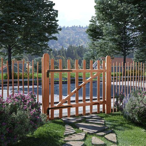 Single Fence Gate Impregnated Hazel Wood 100x90 cm - Brown