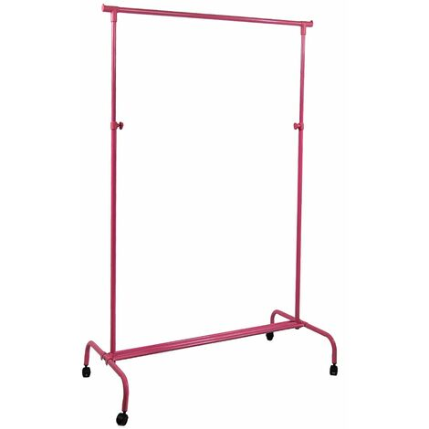 Single Garment Rack, Pink