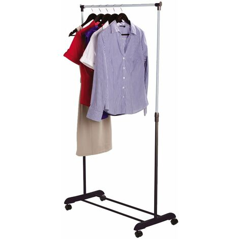 Single Garment Rack, Silver