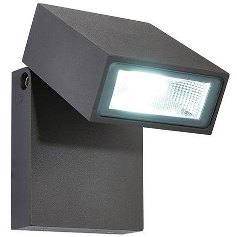 Single LED Wall Light Cool White Fully Adjustable Head 90 Degree