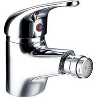 Single Lever 1/4 Turn Chrome Monobloc Bathroom Bidet Mixer Taps & Waste (Aero 6)