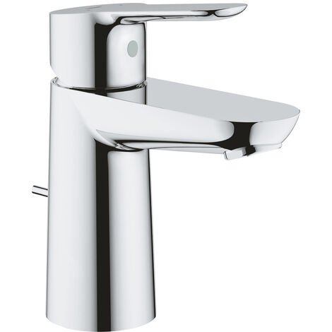 Grohe Single lever basin mixer with drainage, size S, chrome