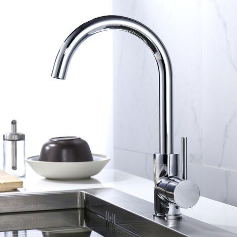 Single Lever Swivel Modern Spout Monobloc Kitchen Sink Mixer Tap