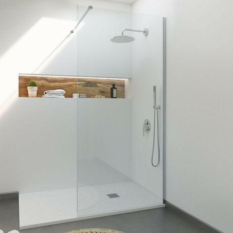 Single Mampara de ducha cristal fijo 70