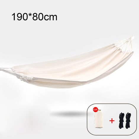 """main image of """"Single Person Hammock Chair with Carry Bag Swing Bed for Travel Outdoor Camping Hiking Garden Patio Backyard,model:A 190x80cm"""""""