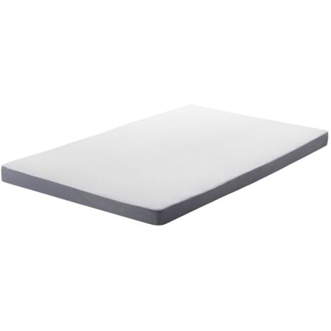 Single Size Foam Mattress 3ft White Polyester Cover Soft Filling Zipper Piccolo
