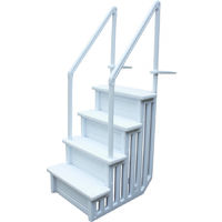 Single staircase for swimming pool