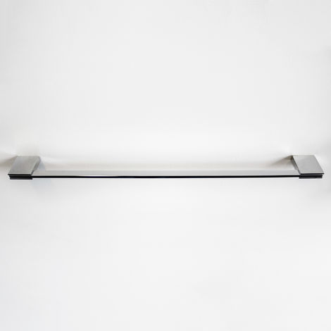 "Single Towel Bar Rail Square 24"" 60cm 600mm - Wall Mounted Chrome Bathroom Accessories"