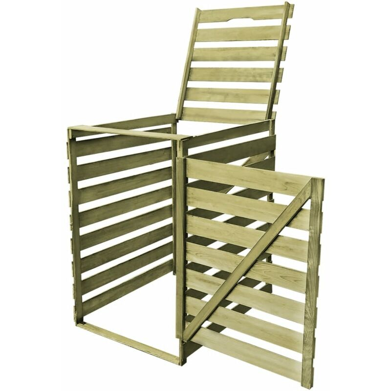 Single Wheelie Bin Shed 240 L Fsc Impregnated Wood